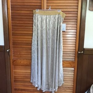 Lularoe elegant collection Lucy maxi skirt gold XL